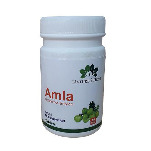 Amla (Phyllanthus Emblica) Powder Tablets: 80 Gms