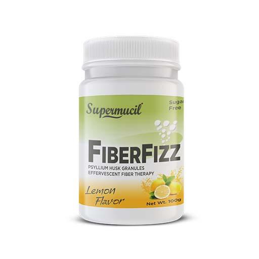 SUPERMUCIL FiberFizz: Psyllium Effervescent: 100 Gms Lemon Flavor: Sugar Free