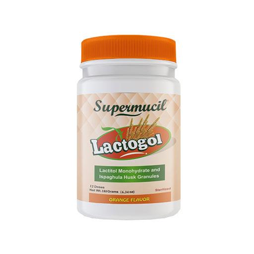 SUPERMUCIL LactoGol : Lactitol Monohydrate with Ispaghula : 180 Gms.