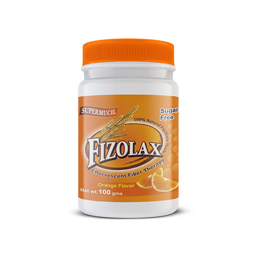SUPERMUCIL FIZOLAX: Psyllium Effervescent: 100 Gms Orange Flavour: Sugar Free